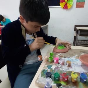 Diya Decoration and Clay Moulding Activity