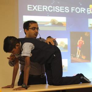 Women empowerment programs on physical awareness by Dr Sudip Joshi